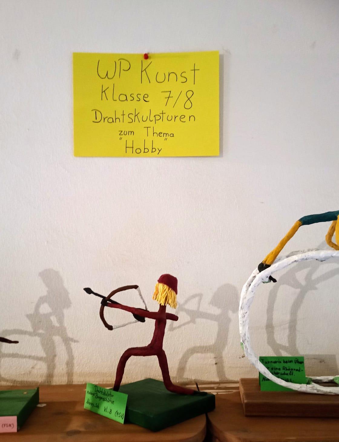 Drahtskulpturen Freie Schule Kierspe